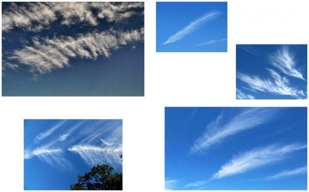 Fotos de nubes con forma de plumas