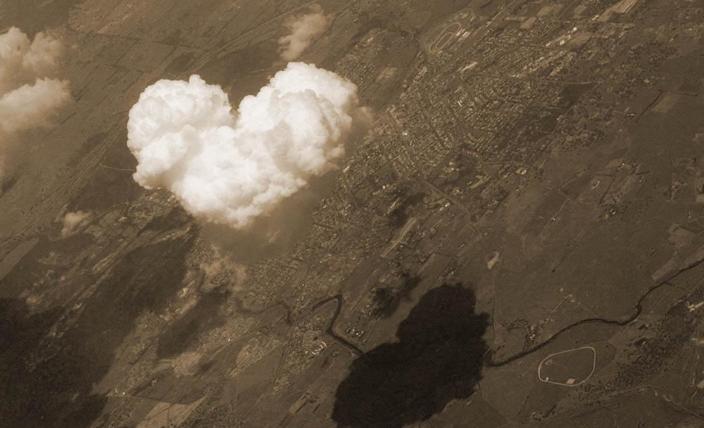 Nube con forma de corazon
