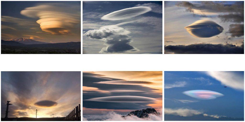 Nubes con forma de OVNI