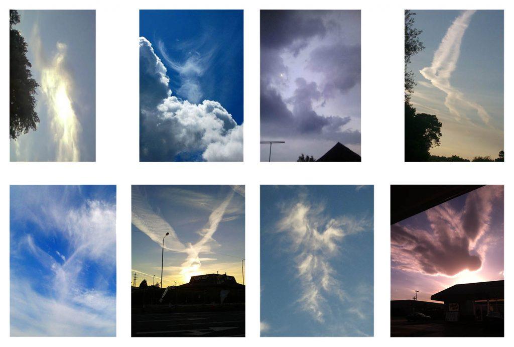 Nubes con forma de angeles