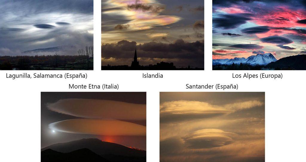 Nubes en forma de OVNI