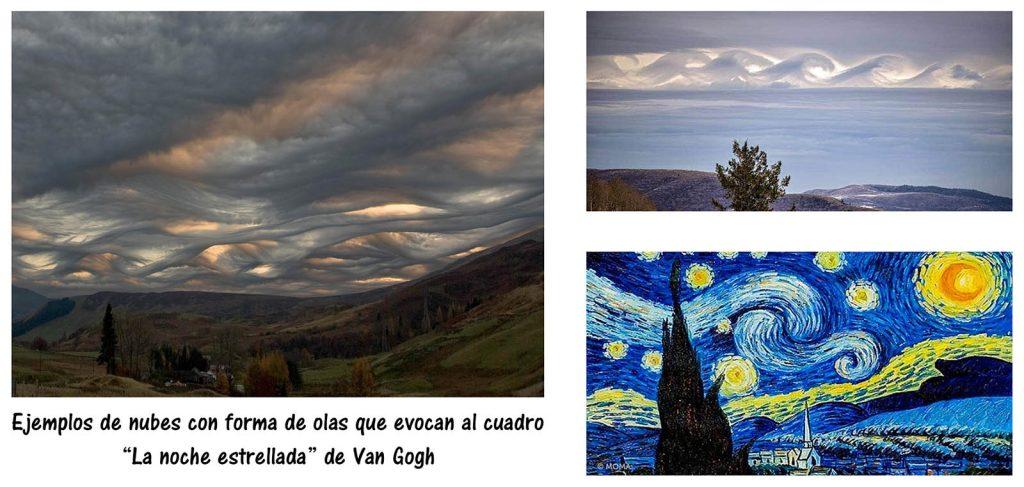 Nubes con forma de olas Van Gogh