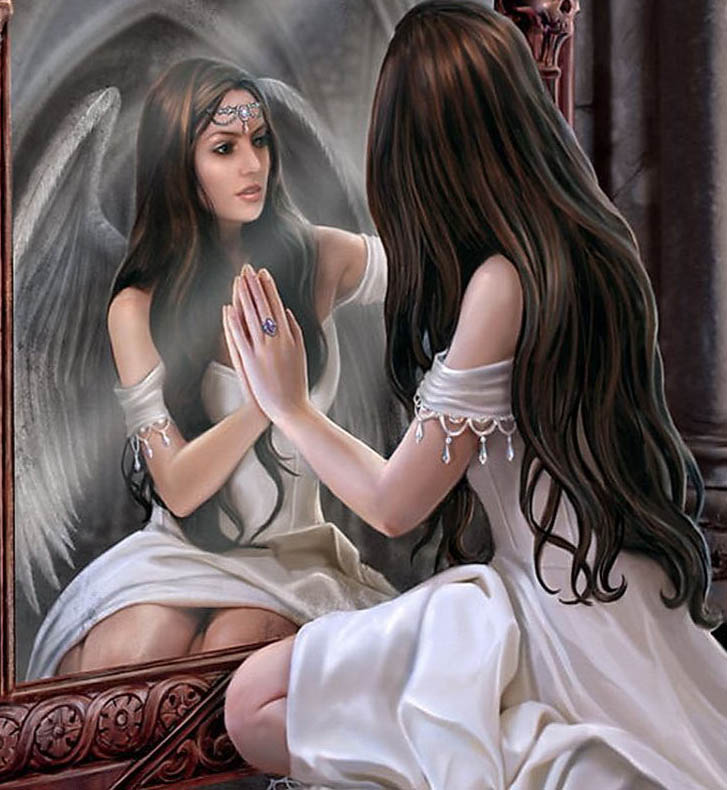 Ángel reflejado