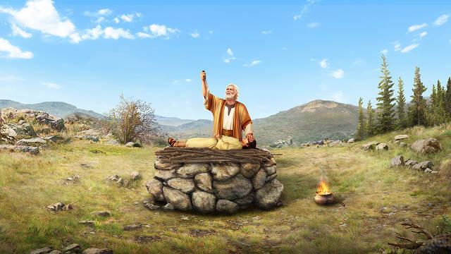 Abraham sacrificando a su hijo