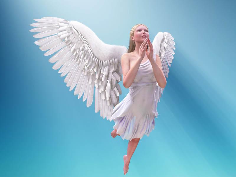 Ver un sólo ángel significa pureza