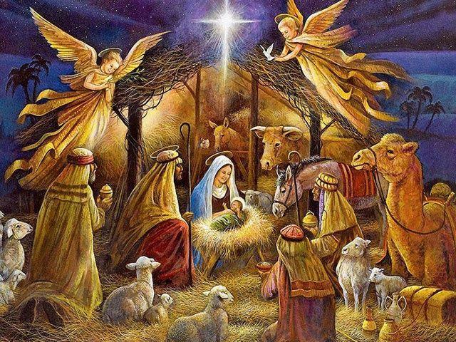 Angeles en el nacimiento de Jesucristo